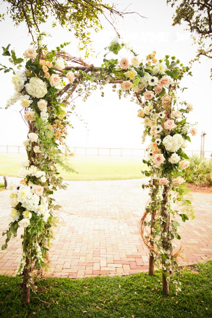 Floral Wedding Arch Florist Fairhope Alabama Eastern Shore